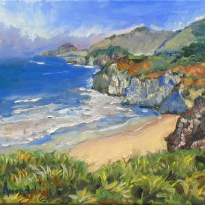 A beautiful rendering 0f Carmel Coast in the impressionist style.